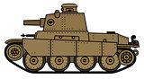 Vintage sand light tank