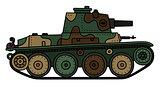 Vintage light tank