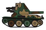 Vintage camouflaged armored vehicle