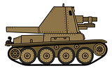 Vintage sand self propelled gun