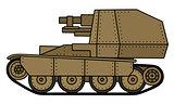 Vintage sand self propelled gun