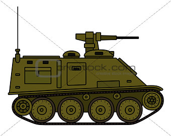 Small armored tracked vehicle