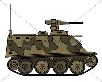Old armored tracked vehicle