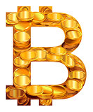 Bitcoin symbol virtual money