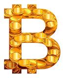 Bitcoin symbol virtual money