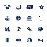 Simple travel icons set