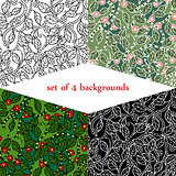 set of backgrounds with Jungle. vector