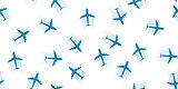 Airplane seamless background