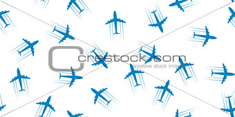 Airplane seamless background