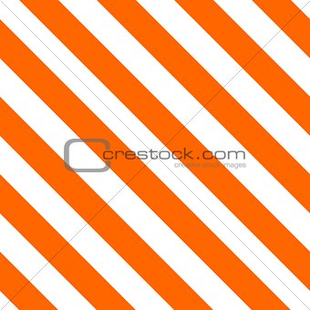 Tile orange and white stripes vector pattern