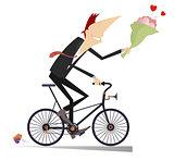 Smiling man on the bike