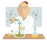 Scientist at the laboratory