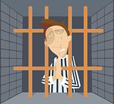 Man in jail cartoon