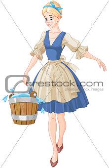 Cinderella Holds a Bucket