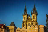 Church of Our Lady before Tyn at Old Town square in Prague, Czec