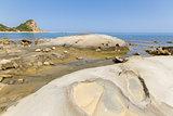 Beach rocks in Karpasia, island of Cyprus
