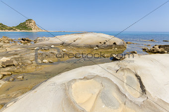 Beach rocks in Karpasia, island of Cyprus