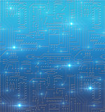 Technological abstract background with blue circuit board textur