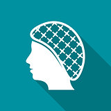 Hairnets must be worn flat icon