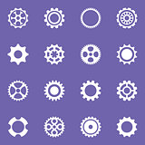 Simple vector cog wheels and gears