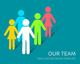 Vector simple our team icon company