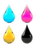 Ink drops set CMYK