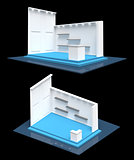 Modern exhibition stand gallery style 3D