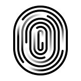 Fingerprint linear icon