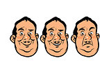 Three emotions head fat