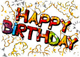Happy Birthday typography vector design for greeting cards.