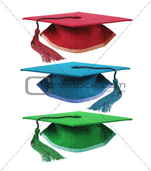 Three Mortar Boards