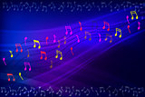 Abstract background frame with music notes