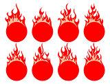 Round fire icon