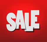 hot Sale. White text SALE on red background
