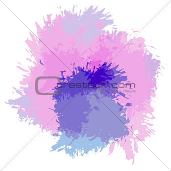 Abstract watercolor spot background. Splash texture background isolated on white. Handcrafted texture