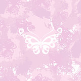 Butterflies silhouette on a abstract watercolor spot background. Splash texture background. Handcrafted texture