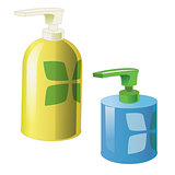 Gel, Foam Or Liquid Soap Dispenser Pump Plastic Bottle. Ready For Your Design. Product Packing