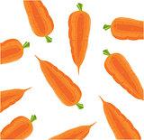 Vegetable carrot on white