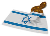 clef symbol symbol and flag of israel - 3d rendering