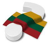 question mark and flag of Lithuania - 3d illustration