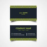 Taxi Driver Card Template