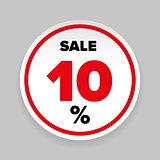 Sale Sticker Ten percent