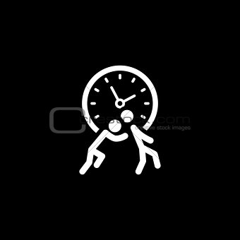Time for Action Icon. Flat Design.