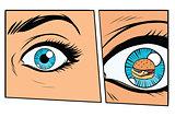 Comic storyboard hungry woman and Burger