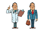 Smiling doctor and businessman
