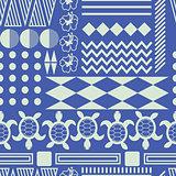 Hawaiian culture ethnic ornament seamless vector pattern.