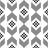 Black and white ethnic geometric pattern.