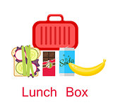 Lunch box vector.