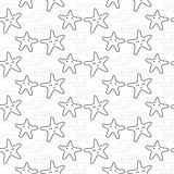 Star stylized line fun seamless pattern for kids and babies.