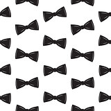 Bow Tie Seamless Pattern, Father s Day Background Vector Illustration